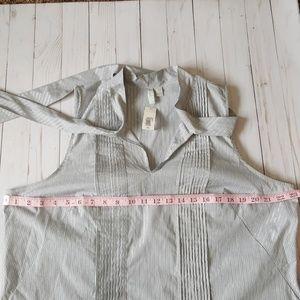 Old Navy Tops - Old Navy Stripe Sleeveless Tie-Neck Top